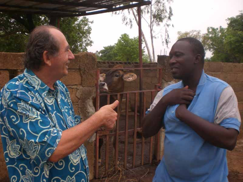 Modeste Ouédraogo et Maurice Oudet en conversation !