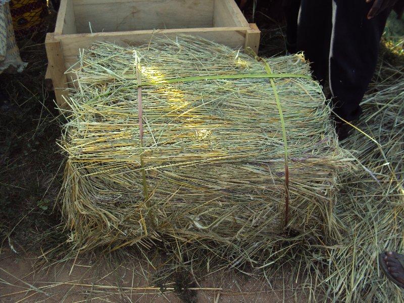 Fabrication d'une botte de 10 à 12 kg avec un moule en bois.