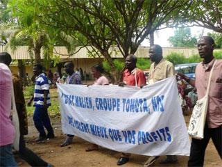 Marche au Forum des peuples à Koulikoro, Mali, 2008